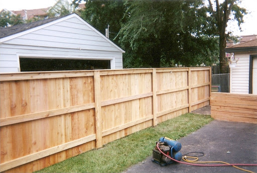 removing an old fence panel